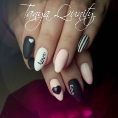 black-white-and-pink-valentines-day-nailart