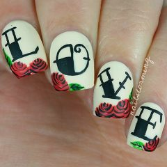 love nail designs with flowers
