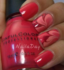 valentines-day-red-water-marble-nailart