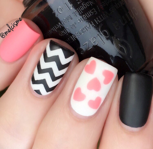 matte-valentines-day-nails-with-zigzags-and-hearts