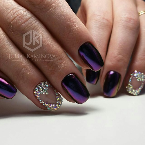 purple-chrome-nails-with-gem-hearts