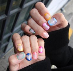colorful-nails-for-valentines-day-with-negative-space