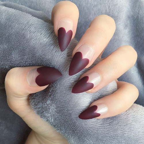 56 valentines day nails for 2018 nailspiration valentines heart french fake nails solutioingenieria Choice Image