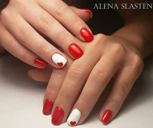 white-and-red-nails-with-red-hearts