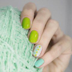 Lime Green Geometric Design
