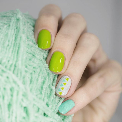 Lime Green Geometric Design