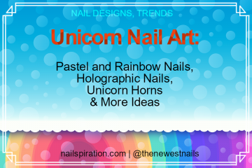 Unicorn Nail Art: Pastel, Rainbow and Holographic Nails, Unicorn Horns