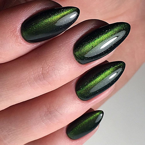 Cat Eye Green Nail Polish