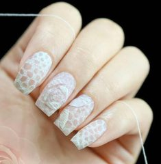 romantic nail design with threads