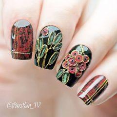 embroidery textile nail design diy