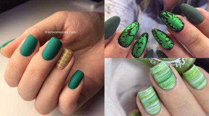 green-manicure-nails