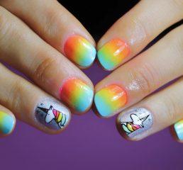 Short Unicorn Nail Designs