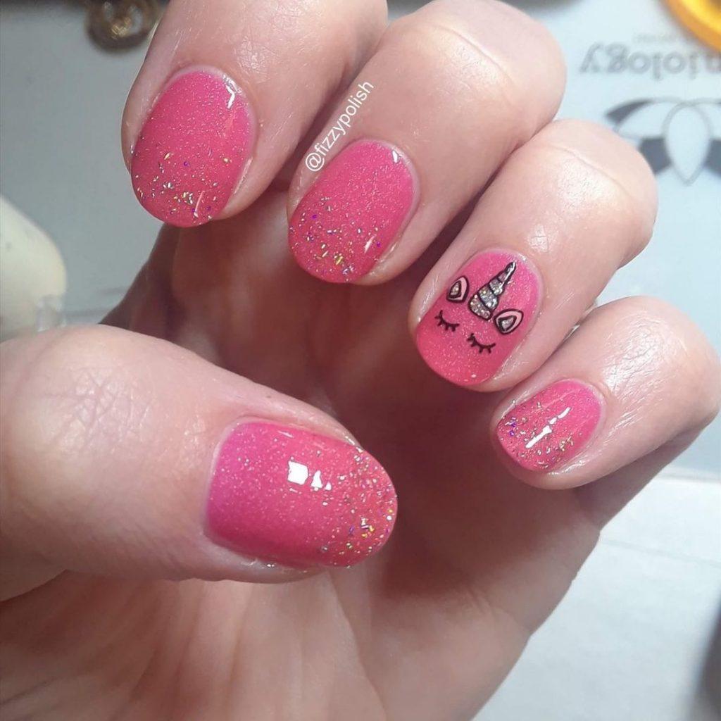 Very Short Unicorn Nail Designs