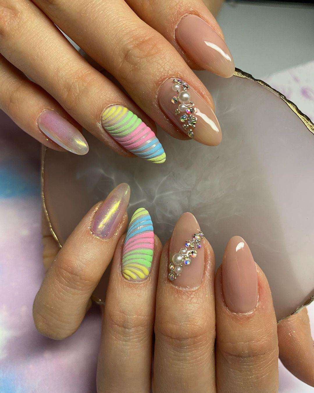 Pastel Unicorn Nail Designs