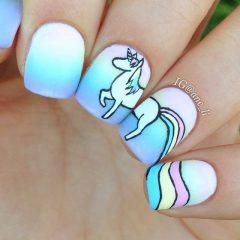 White Unicorn Nails
