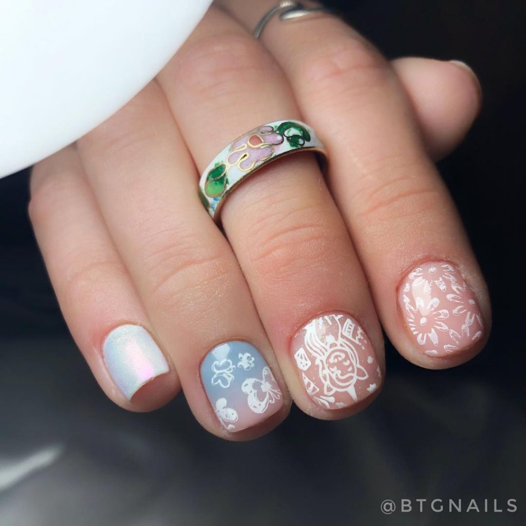 Extra Short Unicorn Nail Designs