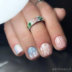 Extra Short Unicorn Nail Designs