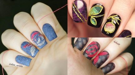 Denim Nails, Jeans Nails or Nails with Thread: A New Trend on Instagram