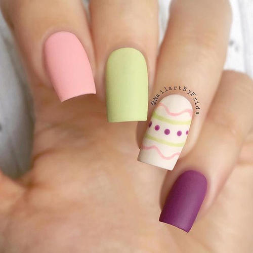 easter-nails-with-geometric design
