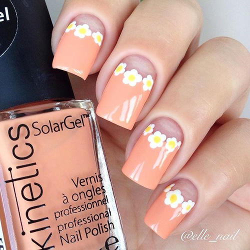 peach-easter-nails-with-flowers