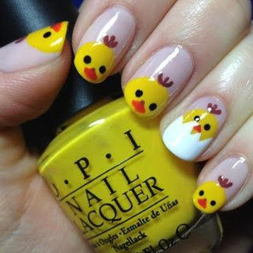 cute-easter-nails-with-chickens