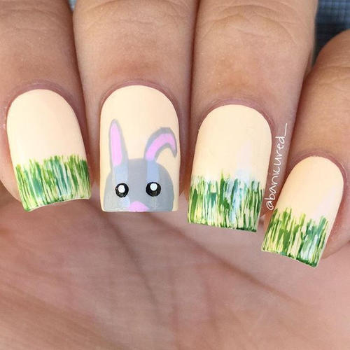 grass-rabbit-easter-nail-design