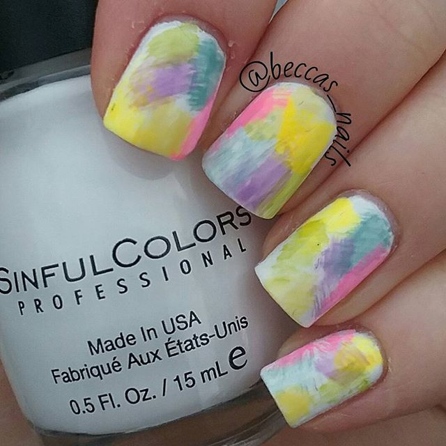 dry-brush-colorful-easter-nails