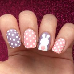 Polka-dote-easter-nails-pink-and-purple