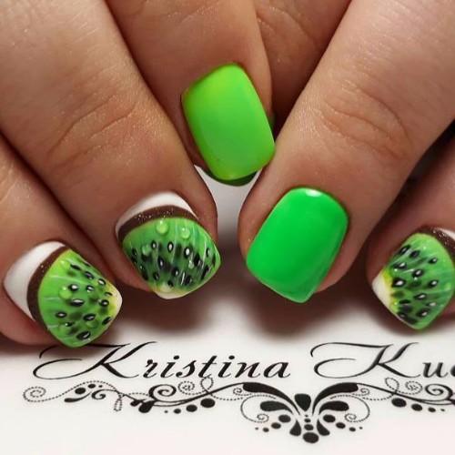 white-and-green-kiwi-nails