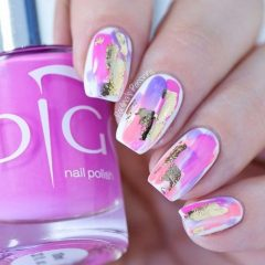 colorful-foil-nail-design-as-summer-trend