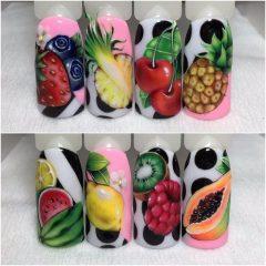 lemon-nails-kiwi-pineapple-nails