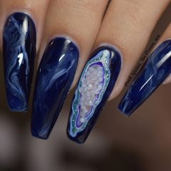 strange geode nails