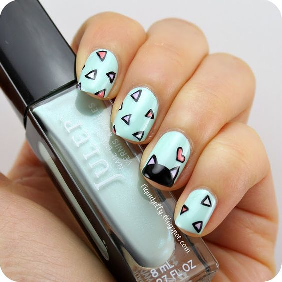 geomeric cat nails