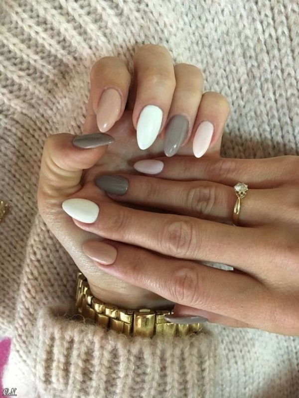 almond nude sweater weather nails