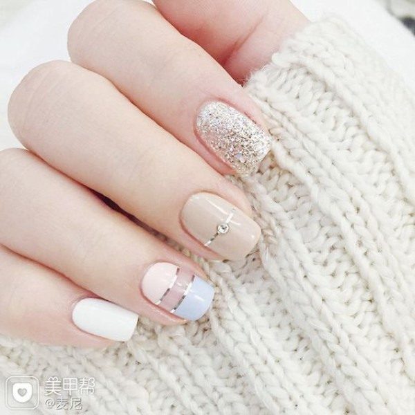 pastel sweater weather nails
