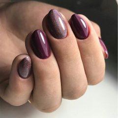 wine holo nails
