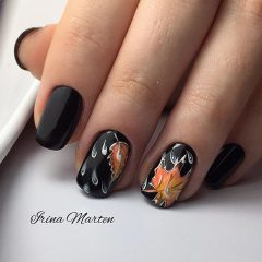 black-fall-nail-design-with-leaves-and-drops-of-rain-nails_irinamarten