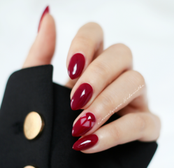 bright wine red nails