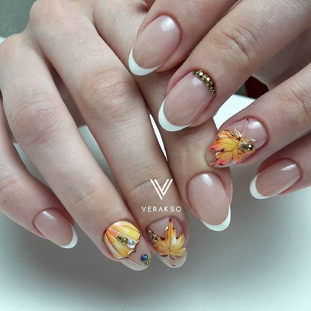 fall-leaf-french-manicure-verakso_nail