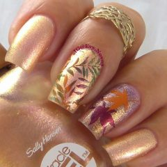glitter-nail-design-for-fall-with-leaves-evy.novoa