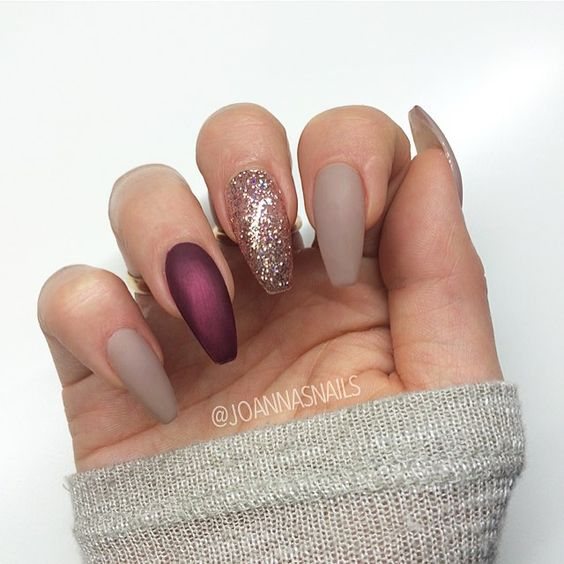 acrylic wine nails