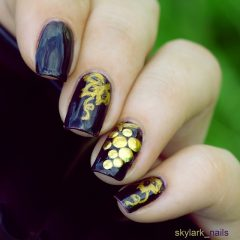 grape nail design