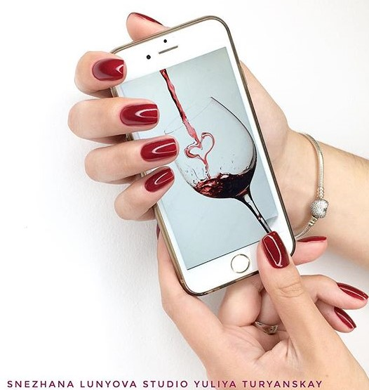 wine themed nails