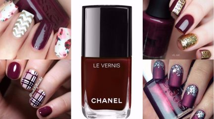 wine red nails guide