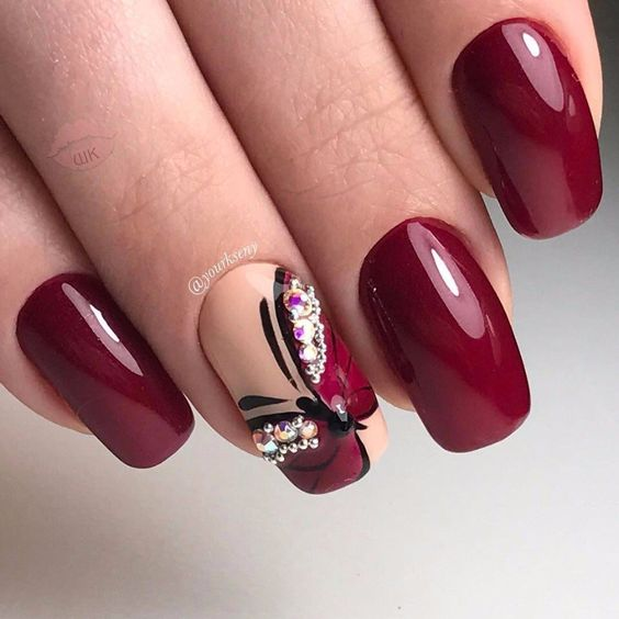 Best Wine Colored Nails Of 2018 Nailspiration