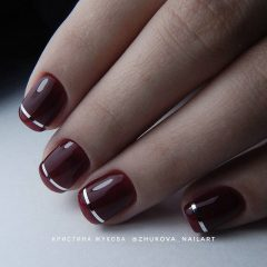 short wine nails