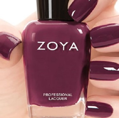zoya veronica wine red nail polish