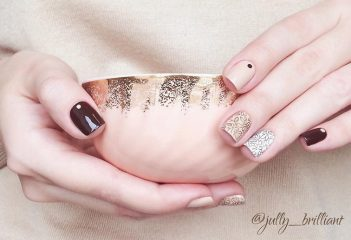 brown hygge nails