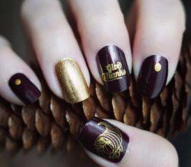 black-and-gold-thanksgiving-nail-art