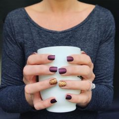 purple and gold HYGGE nails